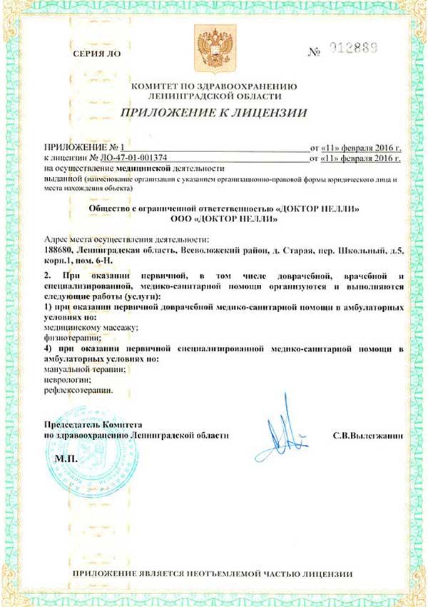лицензия медицинского центра